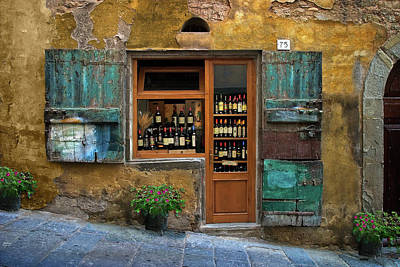 Photograph - Tuscany Wine Shop 2 by Al Hurley