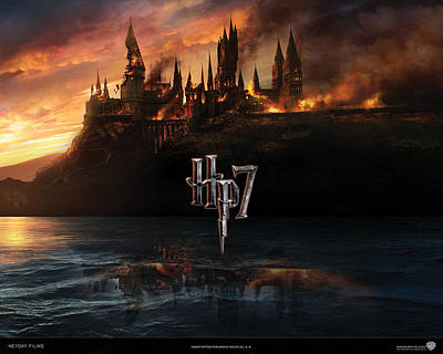 Deathly Hallows Digital Art - Tv Movies Deathly Hallows                   by F S