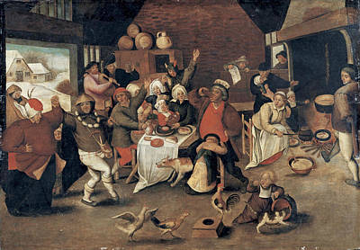 Twelfth Painting - Twelfth Night by Pieter Brueghel the Younger
