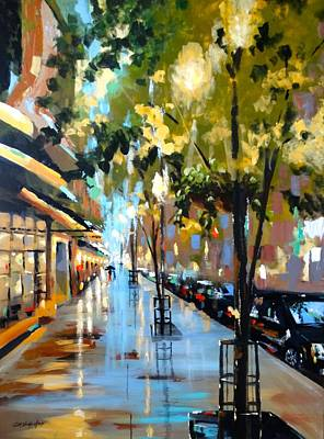 Painting - Twenty One East Hubbard Street Chicago by Sandra Strohschein