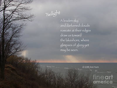Photograph - Twilight by Ann Horn