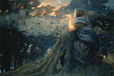 Painting - Twilight Fantasies by Edward Robert Hughes