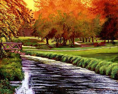 Painting - Twilight Golf by David Lloyd Glover