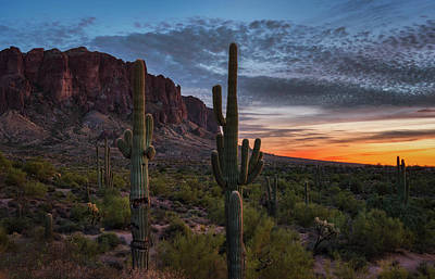Photograph - Twilight Hour In The Superstitions  by Saija Lehtonen