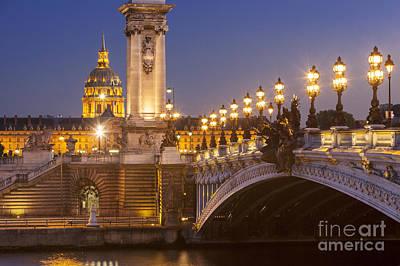 Twilight - Pont Alexandre IIi Art Print by Brian Jannsen
