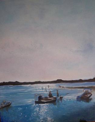 Twilight Tide Art Print by Karen Thompson