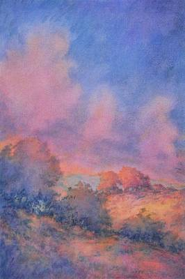 Spring Landscape Painting - Twilight Time No 1 by Virgil Carter