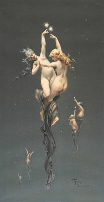 Painting - Twin Stars by Luis Ricardo Falero