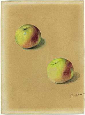 Painting - Two Apples by Edouard Manet
