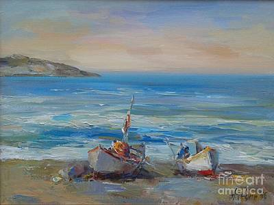Painting - Two Boats by Angelina Nedin