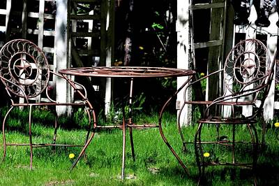 Photograph - Two Chairs And A Table by Jerry Sodorff
