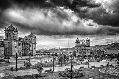 Photograph - Clouds Over Cusco by Maria Coulson