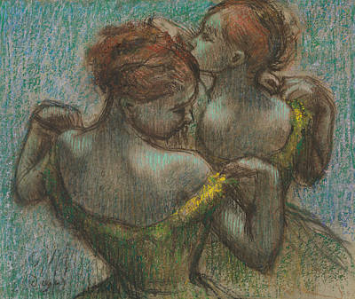 Pastel - Two Dancers, Half-length by Edgar Degas