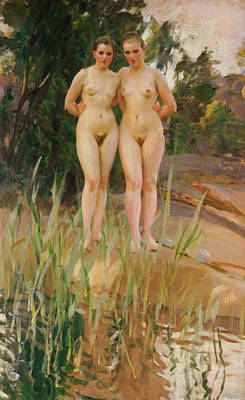 Penis Painting - Two Friends by Anders Leonard Zorn