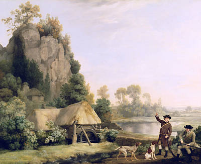 Stubbs Painting - Two Gentlemen Going A Shooting by George Stubbs