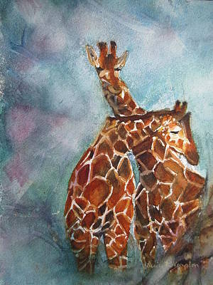 Painting - Two Giraffes by Denice Palanuk Wilson