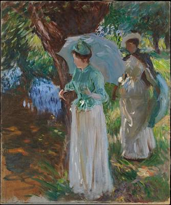 Two Girls With Parasols Original