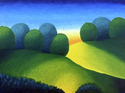 Painting - Two Hills At Dusk by Robert J Diercksmeier