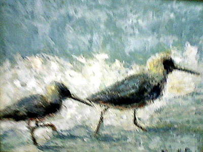 Painting - Two On The Beach by Marie Hamby