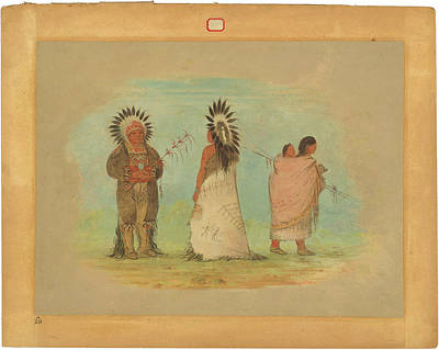 Painting - Two Ottoe Chiefs And A Woman by George Catlin