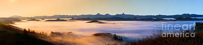 Photograph - Early Morning Fog Over Two-rock Valley, Sonoma County, California by Wernher Krutein