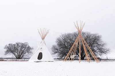 Photograph - Two Tipis by Angela Moyer