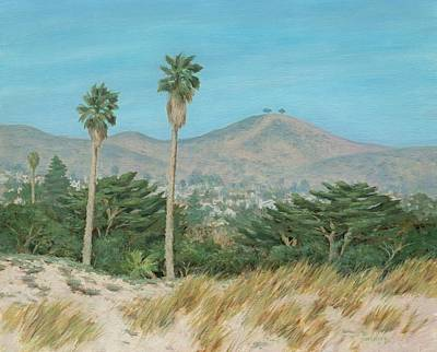 Two Tree's From Ventura State Park Print by Tina Obrien