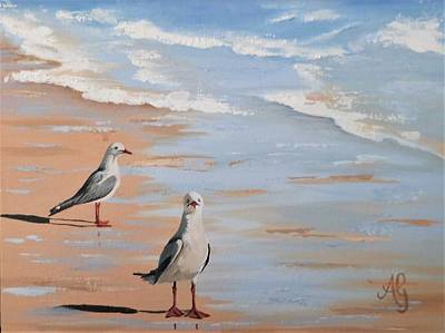 Painting - Two's Company by Anne Gardner