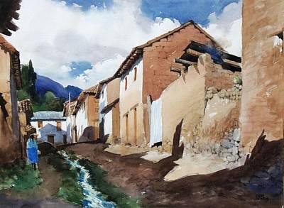 Typical Street Original by Oscar Cuadros