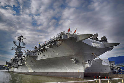 Photograph - The U S S Intrepid  by Dyle Warren