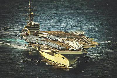 Photograph - U S S Ronald Reagan by U S Navy