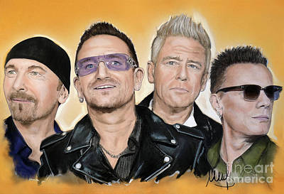 Bono Painting - U2 Band by Melanie D