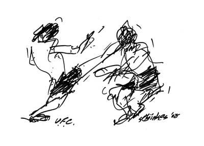 Ufc Drawing - UFC by Sam Chinkes