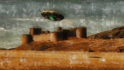 Freemasons Painting - Ufo By Raphael Terra And Mary Bassett by Raphael Terra