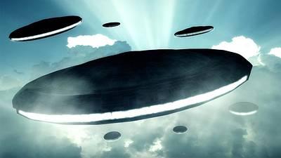 Paranormal Digital Art - Ufo Invasion Force by Raphael Terra