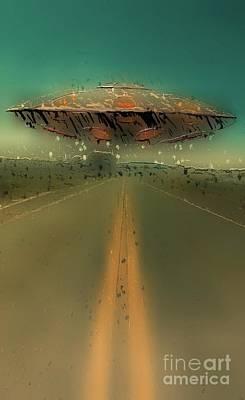 Science Fiction Digital Art - UFO Road by Raphael Terra