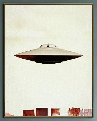 Science Fiction Royalty-Free and Rights-Managed Images - UFO Skyline by Raphael Terra
