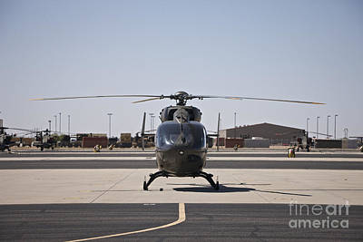 Uh-72 Lakota Helicopter At Pinal Art Print by Terry Moore