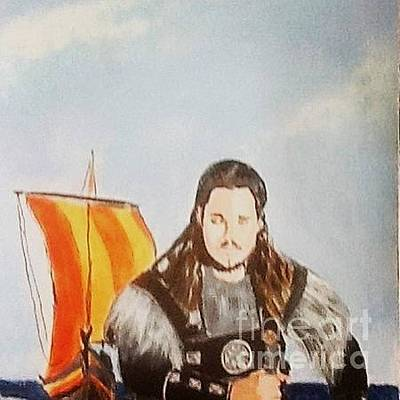 Painting - Uhtred - Last Kingdom by Audrey Pollitt