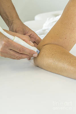 Photograph - Ultrasound Treatment On Elbow by Patricia Hofmeester