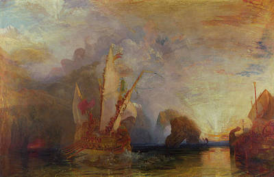 Cyclops Wall Art - Painting - Ulysses Deriding Polyphemus - Homer's Odyssey by Joseph Mallord William Turner
