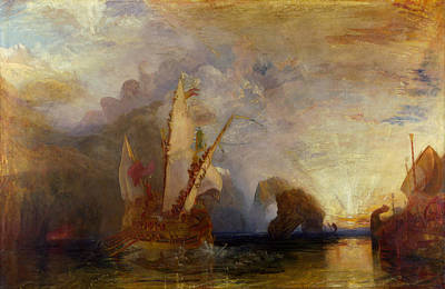 Sail Painting - Ulysses Deriding Polyphemus by JMW Turner