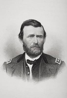 General Grant Drawing - Ulysses S. Grant 1822 To 1885. Union by Vintage Design Pics