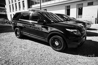 umass university campus police patrol vehicle Boston USA Art Print