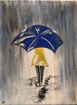 Painting - Umbrella Girl by Jim McCullaugh