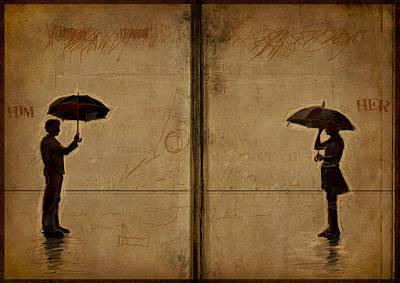 Umbrellas Digital Art - Umbrellas by H James Hoff