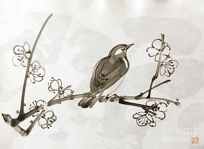 Painting - Ume Uguisu by Fumiyo Yoshikawa