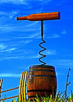 Wine Barrel Digital Art - Uncorked by Margaret Hood