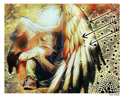 Digital Art - Under His Wings by Jennifer Page