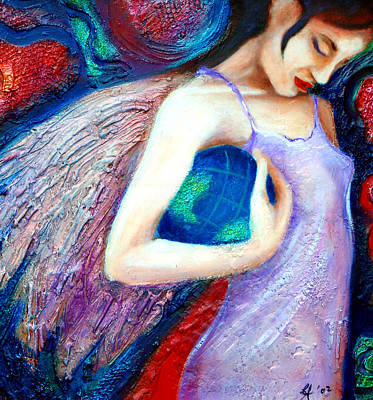 Provocative Painting - Under My Wing by Claudia Fuenzalida Johns